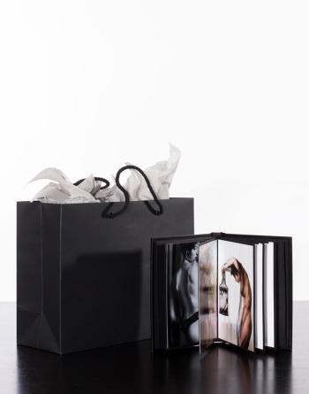 5 x 7 Leather Boudoir Album & gift wrap